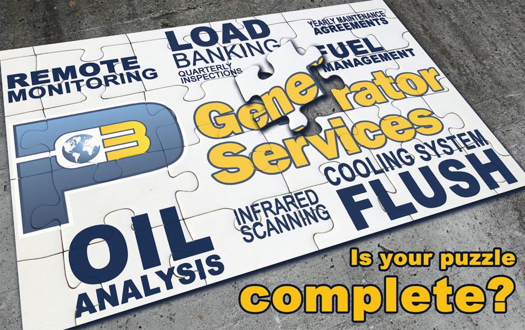P3 Generator Services Maintenance Puzzle