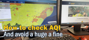 How to check AQI air quality for generator testing